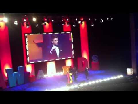 Nicholas McDonald Singing Arms Of An Angel At Young Scot Awards