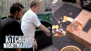 Gordon Throws Terrible Lasagna Into the Parking Lot | Kitchen Nightmares