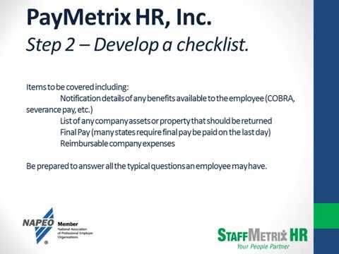 Terminating Employees the Right Way   PayMetrix