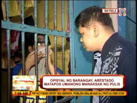 Barangay exec tries to stab Manila cop