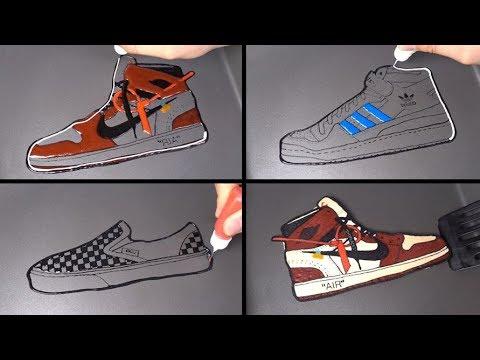 Shoes Brand Pancake Art - Nike Jordan, Adidas, Vans