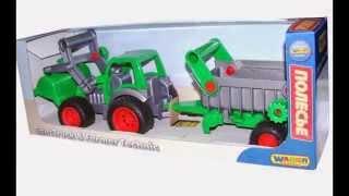 видео Игрушка «Трактор с прицепом №1» (серия Мастер)