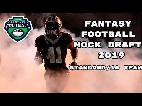 Repeat Fantasy Football Mock Draft 2019 (Standard)- 10 Team- Pick 4
