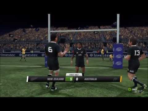 Rugby Challenge 2 - All Blacks vs. Wallabies Gameplay [HD]