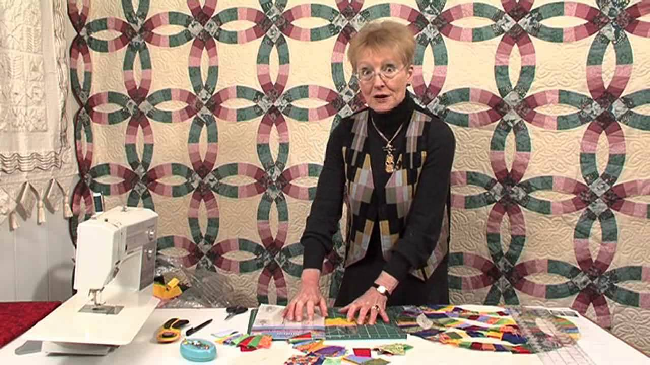 Double Wedding RIng patchwork with Jennie Rayment Taster Video