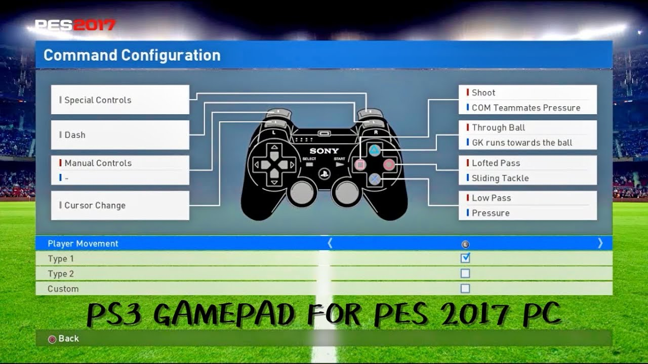 Download & Install PS3 GamePad For PES 2017 PC