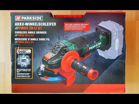d805e4a7d67f9 Parkside PWSA 20-Li A1 Akku-Winkelschleifer x20V Team, Cordless Angle  Grinder - [Unboxing! 4K]