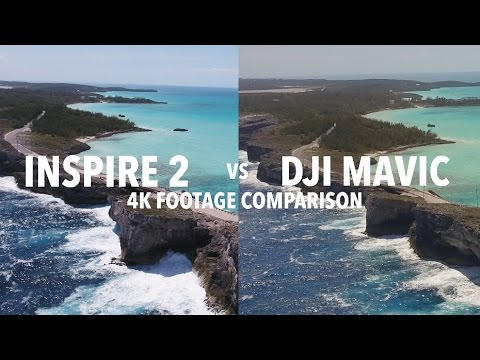 DJI Mavic Vs DJI Inspire 2 4K Footage Comparison! Is There A Difference?
