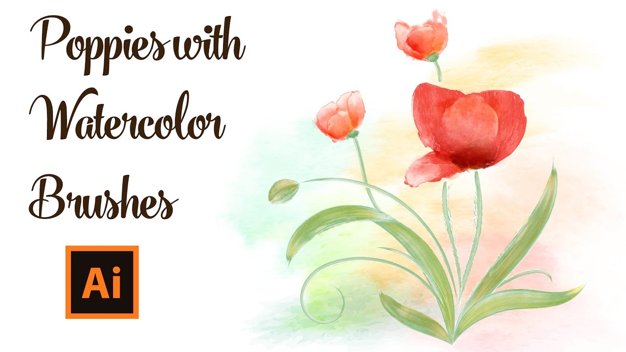 How to draw poppies with watercolor brushes in adobe illustrator how to draw poppies with watercolor brushes in adobe illustrator mightylinksfo