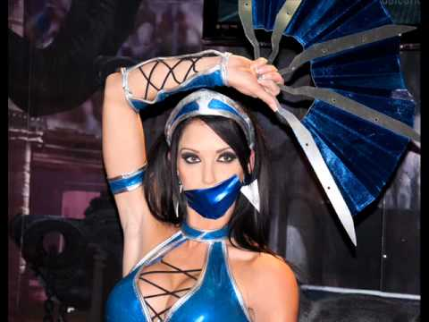 Sexy Kitana With Mask Cosplay Mortal Kombat 9 Youtube