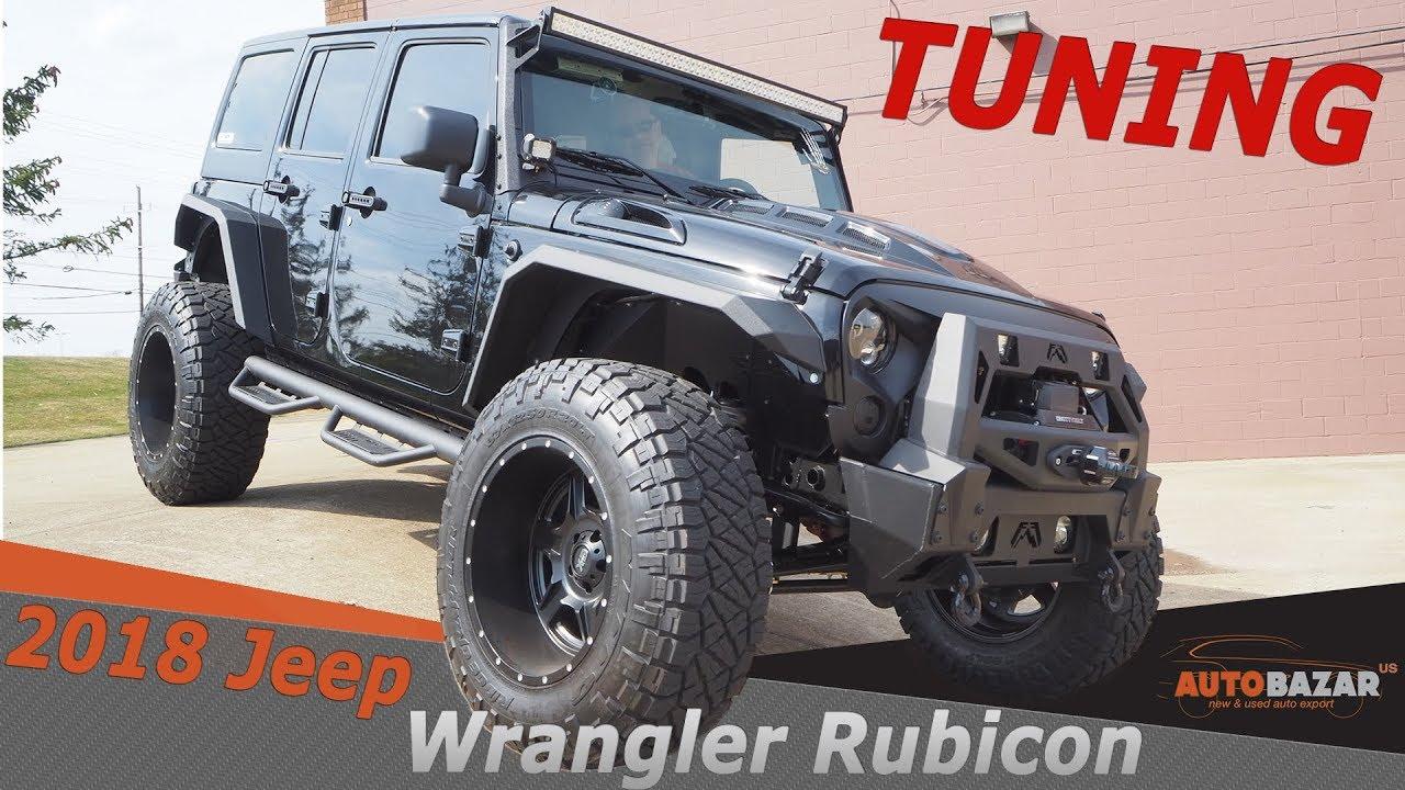 2018 Jeep Wrangler Rubicon Tuning  видео. Тест драйв Джип Вранглер Рубикон 2018 тюнинг  на Русском.
