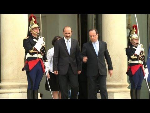 Le chef de l'opposition syrienne reçu à l'Elysée