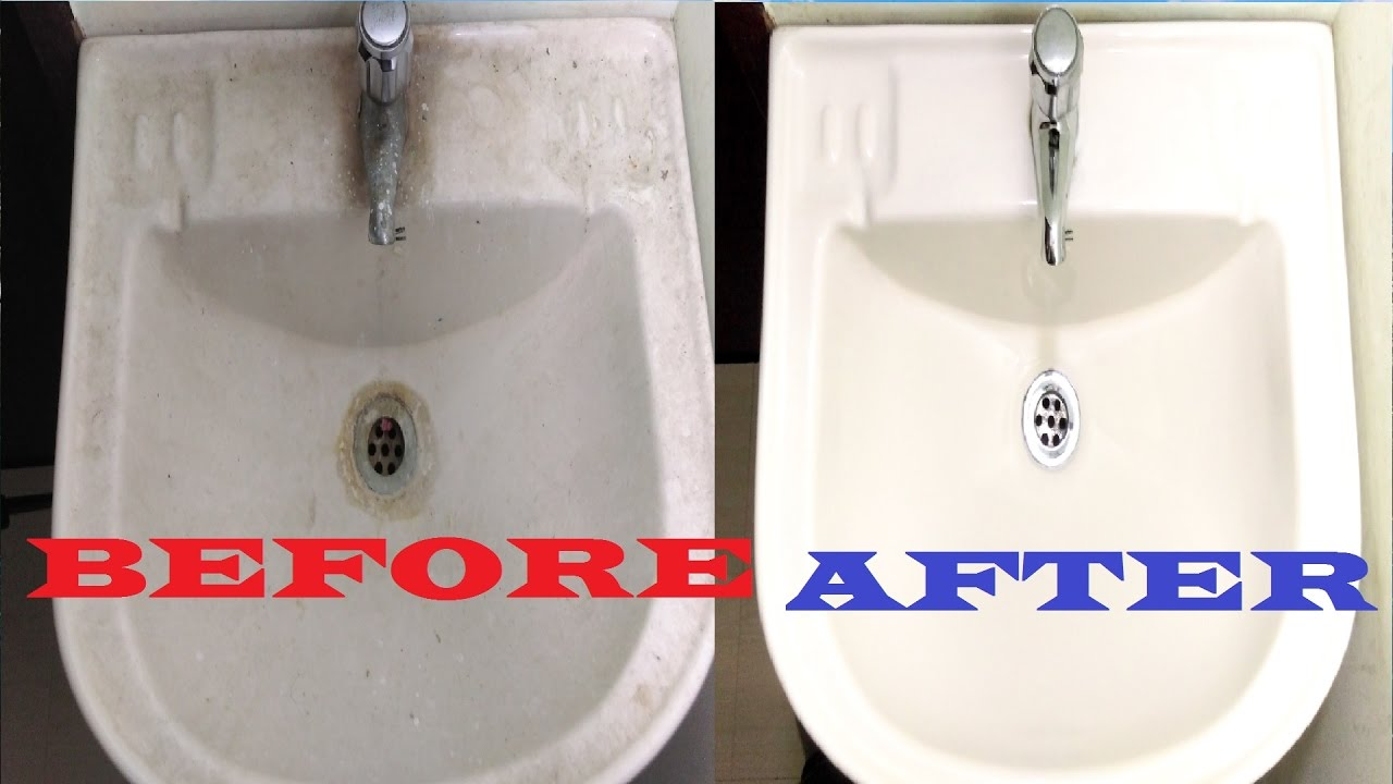 How To Clean Bathroom Sink Ceramic Porcelain Sink Cleaning - Remove stains from bathroom sink