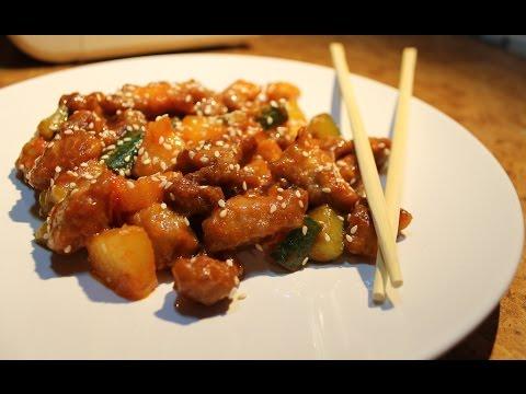 Рецепт: Мясо по-китайски в кисло-сладком соусе на