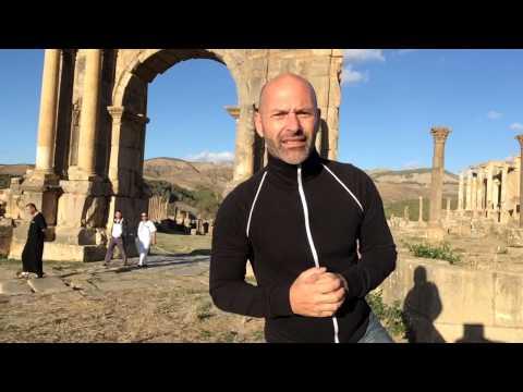 from the roman site of djemila, algeria