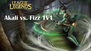 League of Legends 1v1 Akali Vs Fizz