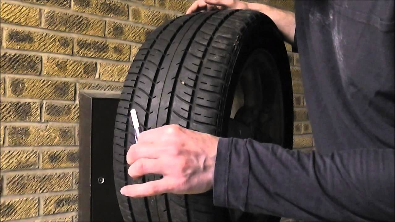 how to check your tire tyre tread depth youtube. Black Bedroom Furniture Sets. Home Design Ideas