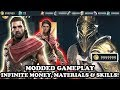 Assassin's Creed Odyssey PS4 MODDED - INFINITE MONEY, INFINITE MATERIALS & INFINITE SKILLS!