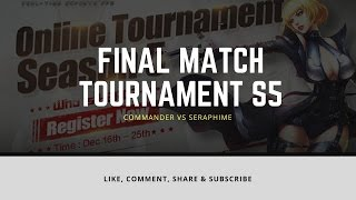 Prepare Final Match Tournament S5 Online - Crisis Action