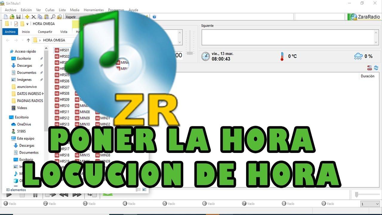 ZaraRadio- Como poner la hora locución de hora ...