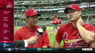 Seung Hwan Oh tries out his English