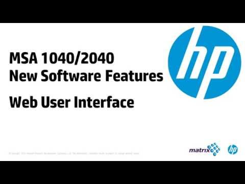 MSA 2040 Web User Interface - YouTube