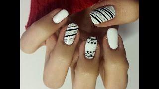 Nail art tutorial black&white look!