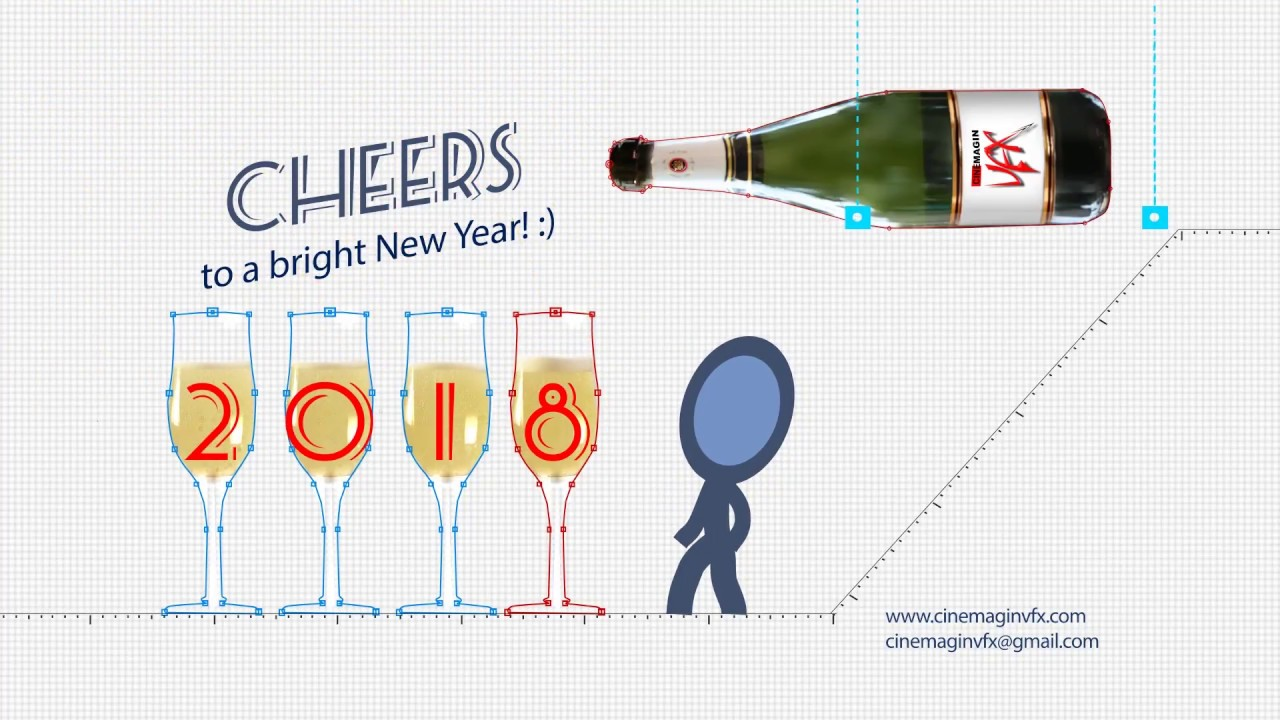 CHEERS | HAPPY NEW YEAR | 2018 | CINEMAGIN VFX - YouTube