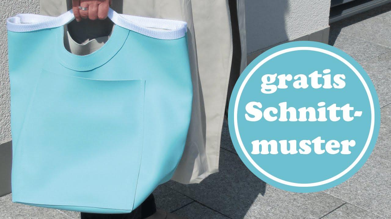Einfacher Shopper nähen aus Skai-Kunstleder   für Anfänger   mit ...