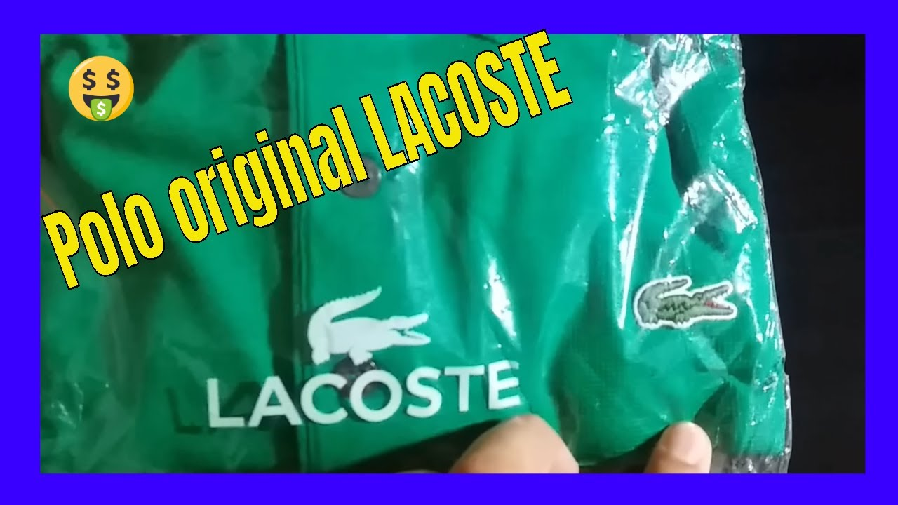 Unboxing da Netshoes  Camisa polo Lacoste super light  Lacoste original -  YouTube 824134bc89