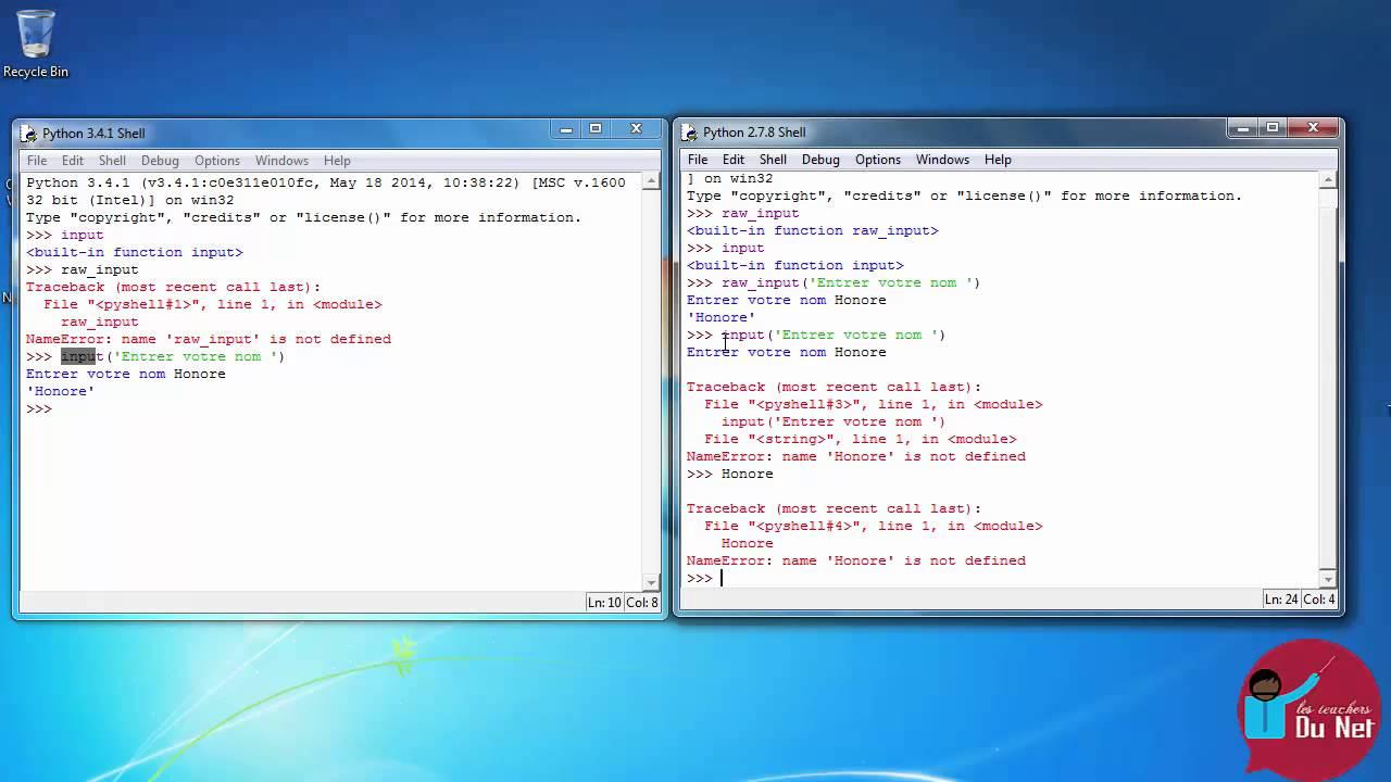 Différence entre raw_input et input - Python