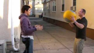 Autism Fitness DynaMax Ball Catch Exercise