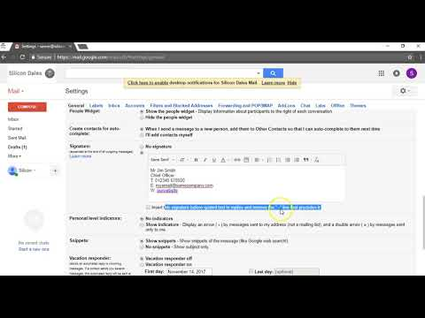 How to add an email signature into G Suite - Tutorial