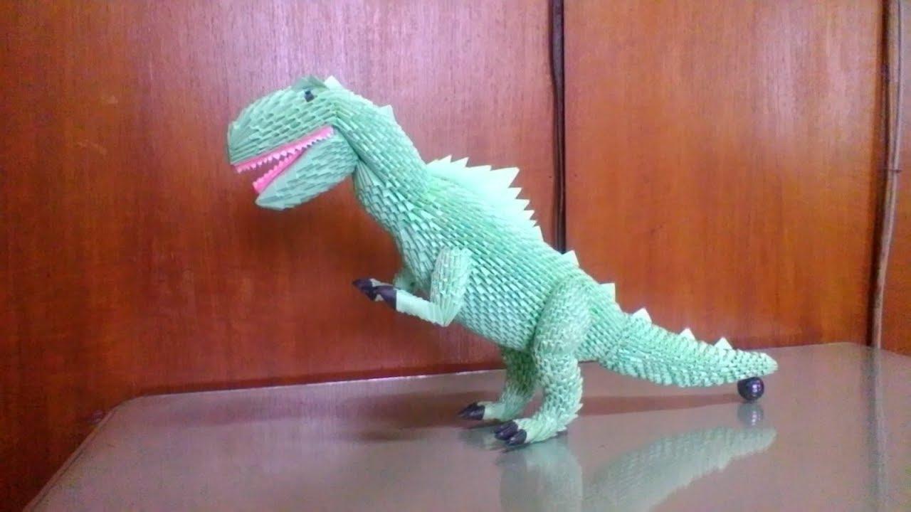 How To Make Origami 3d Tyranosaurus PART 1