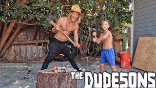 KID DESTROYING STUFF WITH THE DUDESONS PART 1