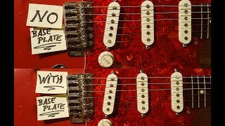 Strat bridge pickup baseplate - single coil sound comparison with/without PART 1/2