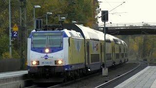 Eschede mit Metronom Zügen, sehr schnelle ICEs und ICs, Güterzüge