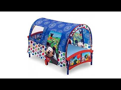 Delta Children Toddler Tent Bed Disney Mickey Mouse  sc 1 st  YouTube & MUST SEE Furniture Review! Delta Children Toddler Tent Bed Disney ...