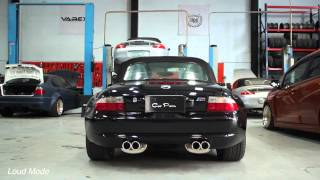 varex variable twin tip exhaust on bmw m z3