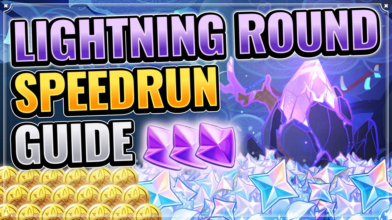 Lightning Round Speedrun Guide (FREE 210 PRIMOGEMS) Genshin Impact Patch 2.0 Inazuma Thunder Sojourn