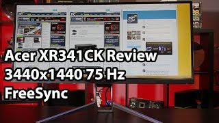acer xr341ck 34 in 3440x1440 75hz ips freesync ultrawide monitor review