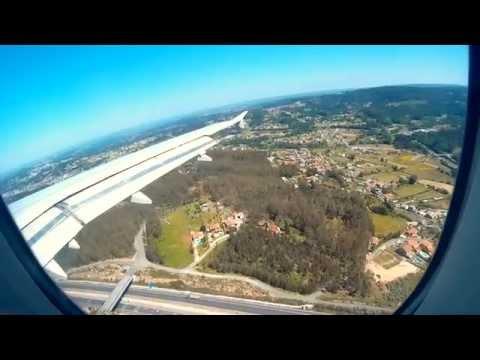 Aterrizaje en el aeropuerto de Alvedro, La Coruña