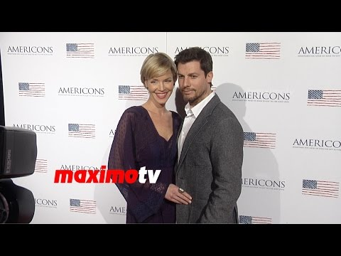 Ashley Scott & Steve Hart  AMERICONS Los Angeles Premiere  Red Carpet