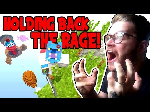 I REALLY HAD TO HOLD BACK MY RAGE!! - THANKS GIVING SKYWARS - (Minecraft XBOX)