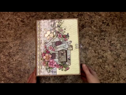 TUTORIAL PART 1 MINI ALBUM WILDWOOD COTTAGE - DESIGNS BY SHE
