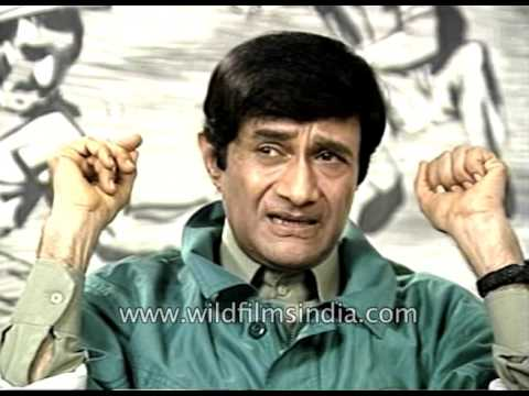 Bollywood film actor Dev Anand speaks about youngsters