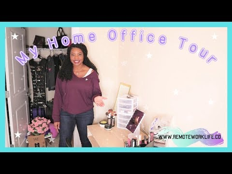 My Home Office Tour 2019 + Work From Home Setup 🏡💻   Online, Remote Work-At-Home Jobs 2019