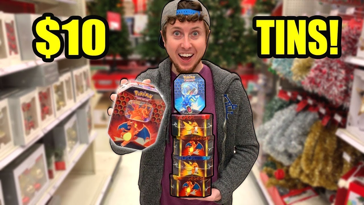 BLACK FRIDAY SHOPPING for POKEMON CARD DEALS! Opening The $10 Hidden Fates Tins
