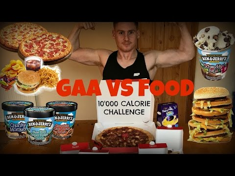 10'000 CALORIE CHALLENGE!! | GAA vs FOOD | EPIC CHEAT DAY