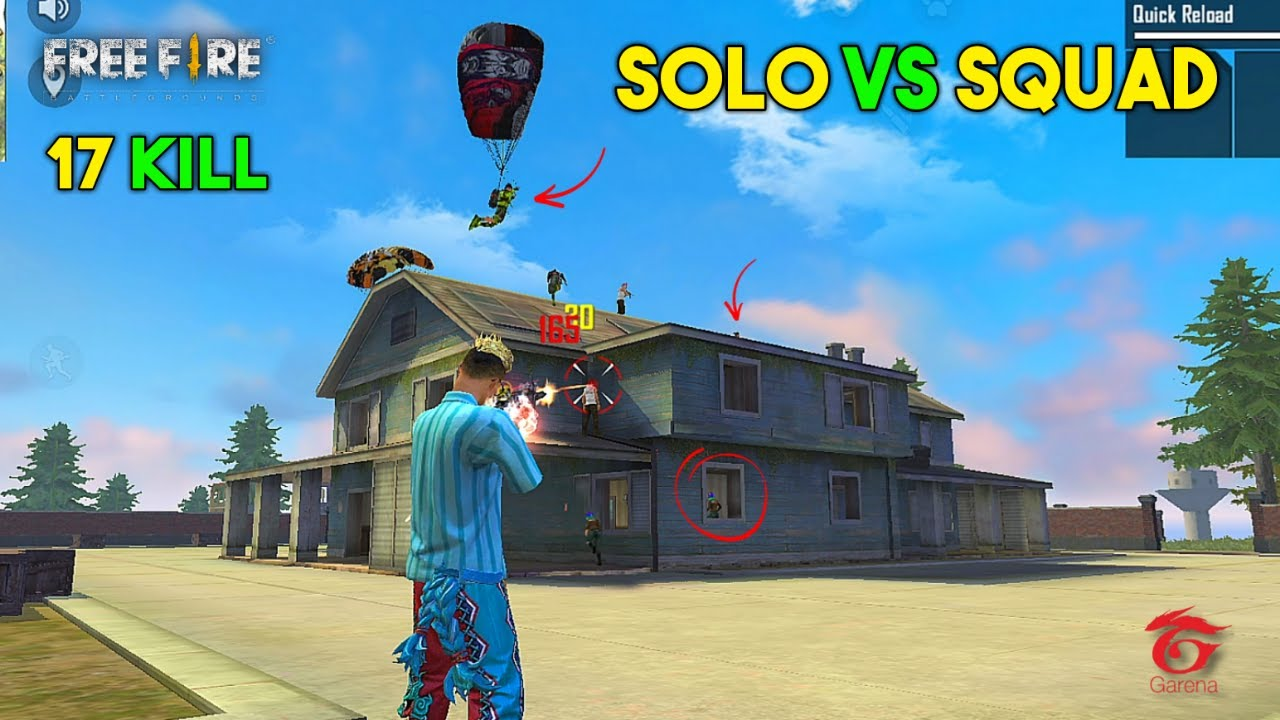 17 Kill Solo vs Squad, 1 Mistake changed Gameplay Result Must Watch - Garena Free Fire
